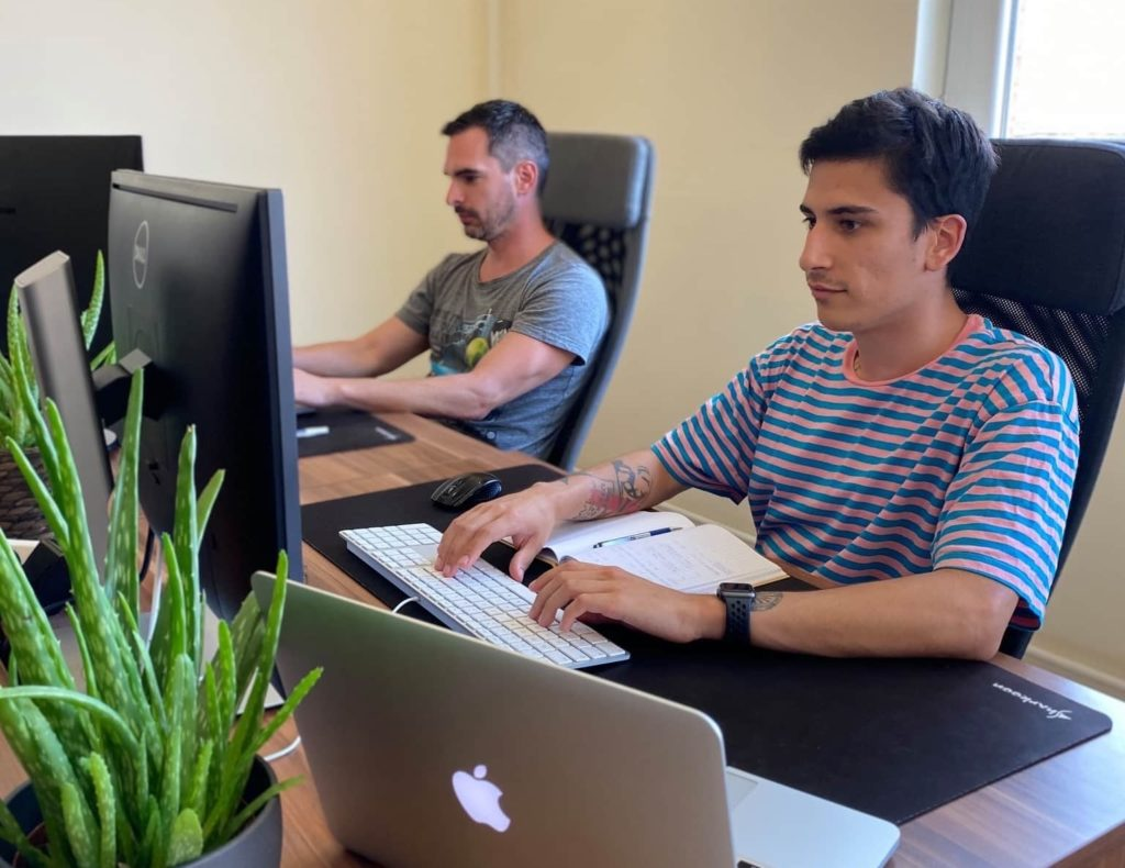 Splendex team in the office with our plants